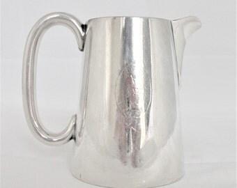 Elkington & Co silver plated milk jug. Elkington plated.Vintage milk jug.Collectible.