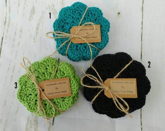 Set of 6 crochet coasters