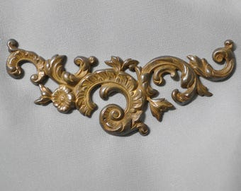 Vintage French Louis XV Quinze Rococo Ornate Brass Stamping / Die Casting 179J
