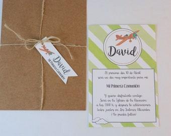 INVITATIONS, communion invitations, invitations birthday, infant communion