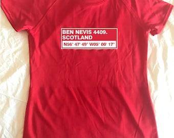 I climbed Ben Nevis, Scotland, Ladies Performance T-Shirt