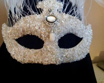 Beaded costume mask