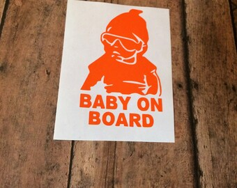 Baby On Board Decal, Baby Car Decal, Car Decal