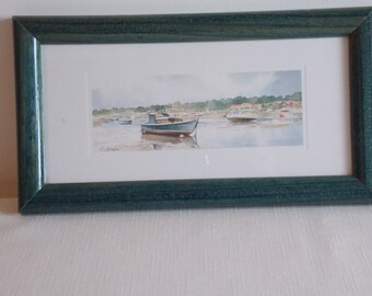A pair of harbour and boat scenes.