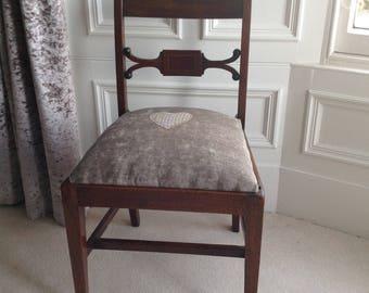SOLD Vintage tartan upholstered chair