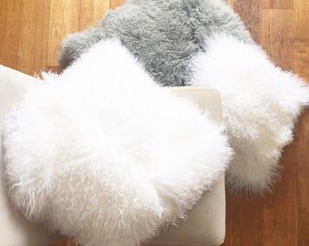Genuine Mongolian Lamb Fur Pillow Cover