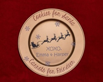 Personalized Cookie Plate for Santa