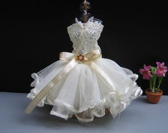 Ivory Ballet Dancer Outfit Ballerina Tutu Fashion Costumes Dolls Clothing Dress up for Barbie, Dolls 12 inch