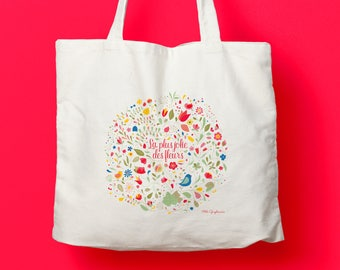 "Canvas bag / Tote bag ""The prettiest flowers"""