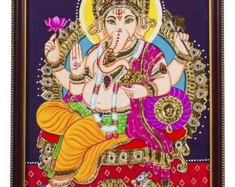 Ganesha in water colors