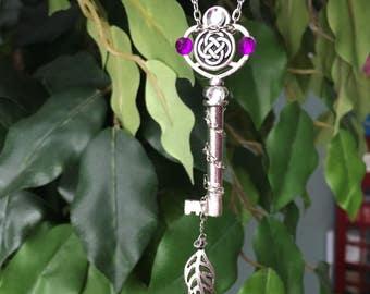 Silver Circular Celtic Knot Key Necklace