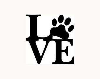 love/dogs/decal/outdoor/car/cup/mug/tumber/fun
