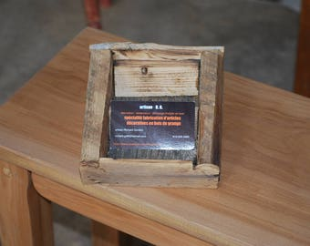 support cardholder case wooden barn/Business/office/reclaimed wood