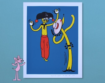 Charly the Cat - Spanish Dance - 4 Color Screenprint