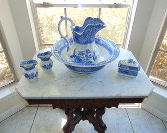 """Spode's """"Camilla"""" Copeland (England) Antique Wash Basin Set """"Very Rare"""""""