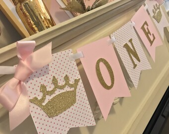Princess First Birthday , Pink and gold glitter 1st birthday ,Pink and Gold Glitter Birthday, Pink and Gold 1st Birthday