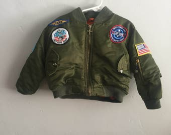 Top Gun Jacket by Road Pro 1980s Infant Boys size 4T