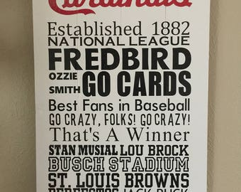 St. Louis Cardinals Subway Sign