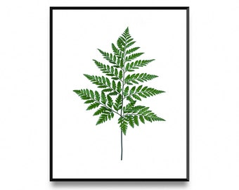 Fern Leaf Print, Fern Print, Fern Wall Art, Leaf Art Print, Affiche Scandinave, Botanical Leaf Art, Printable Leaf, Printable Art