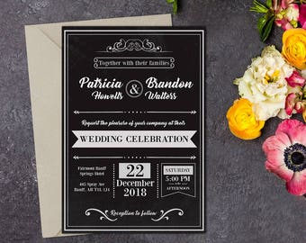 Wedding invitation, Rustic Wedding, Country Wedding, Printable Wedding, Invitation template, Wedding invitation, DIY wedding