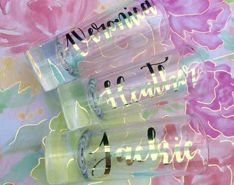 Personalized shot glasses | bridal party | Bachelorette Party | Wedding Party Gift