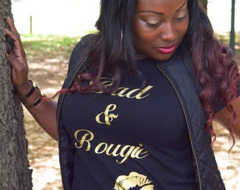 Bad & Bougie Gold Shirt with One Pair of Free Earrings