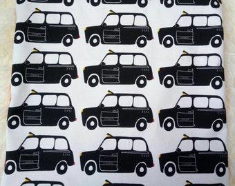 Black cab cushion cover (sham style)