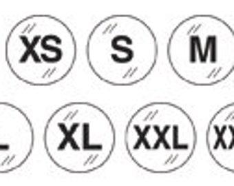 ULINE Apparel Size Labels (1,000 labels per roll)