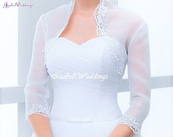 Bridal jacket organza/lace