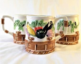 Trio of veggie cups