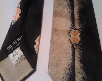 40s Jakarta from The Hub Tie / Mens vintage tie / Necktie / 1950s tie / Rockabilly Tie
