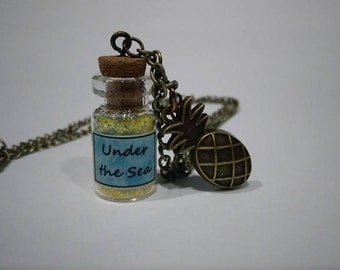 Under the Sea!  Bottle Charm Necklace
