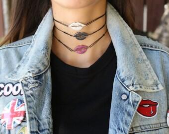 Full Pave Lip Choker