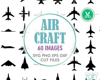 Plane Svg, Aircraft Svg, Airplane Svg File, Airplane Clipart, Air Force Svg, Plane Decal, Svg Cuts, Cuttable Svg, Digital Cut Files, Dxf Eps