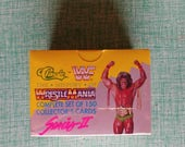 WWF History of Wrestle Mania Sealed Series II complete set of 150 collector's cards! Wrestling - Baseball Cards - Gift for Him - Man Cave