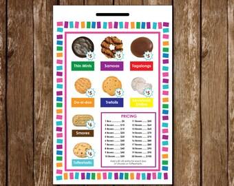 Girl Scout Cookie Lanyard - Printable | LBB 5.00 + 6.00