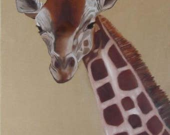 6163 Giraffe Dancingbranch paintings hov