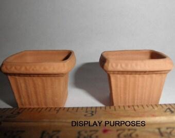 """Dollhouse miniature 1"""" scale pots Flower pots Dollhouse accessories Flower pots"""