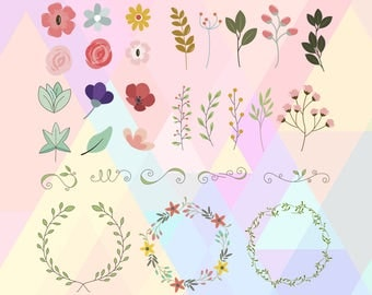 Floral SVG | Floral Ornaments svg | Floral Clipart | Floral Vector | Flower svg | Floral Blossom svg | Floral Cut file | floral wreath svg