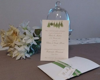 Herb theme invitations