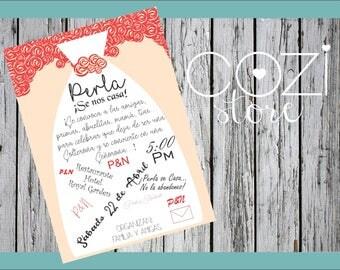 Dress bachelorette party invitation