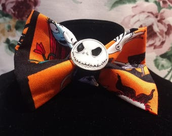 Nightmare Before Christmas Tim Burton Inspirational Style With Themed Fabric And Jack Embellishment.
