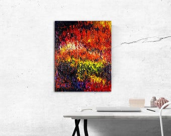 Colorful abstract acrylic painting on canvas 40x50cm (painting, abstract, colorful)
