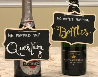 Champagne Bottle Tags (Set of 2)