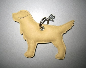 Golden Retriever leather pendant