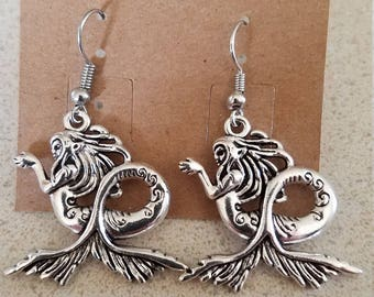 Matching mermaid earrings and necklace
