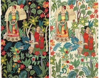 Frida Kahlo fabric - Frida's Garden fabric - upholstery canvas - Alexander Henry fabric - Frida Kahlo canvas - furnishings cotton canvas