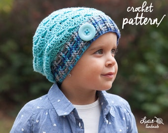 Crochet Hat PATTERN No.68 - Uni Slouchy Winter Hat, Autumn Hat, Spring Hat Crochet Pattern