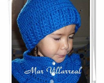 "Hat and neck warmer model ""Lula"""