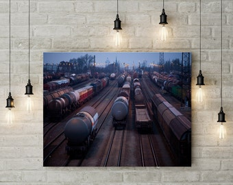Train, Waggon and rolling stock in Leipzig, Photoprint, Art, Printart - Poster, Acrylic, PVC foamboard, canvas print